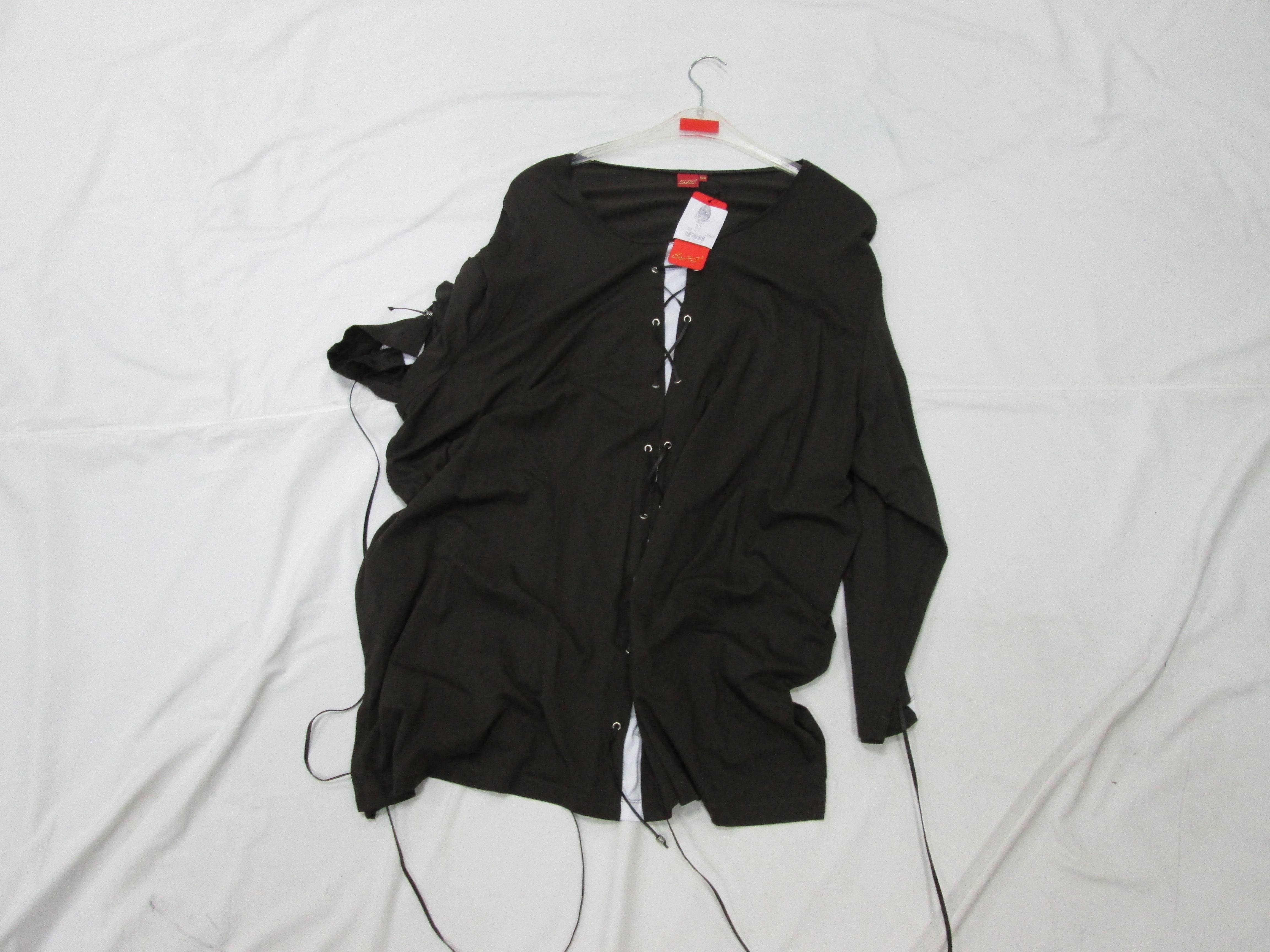 Літня кофта, чорного кольору з зав'язками