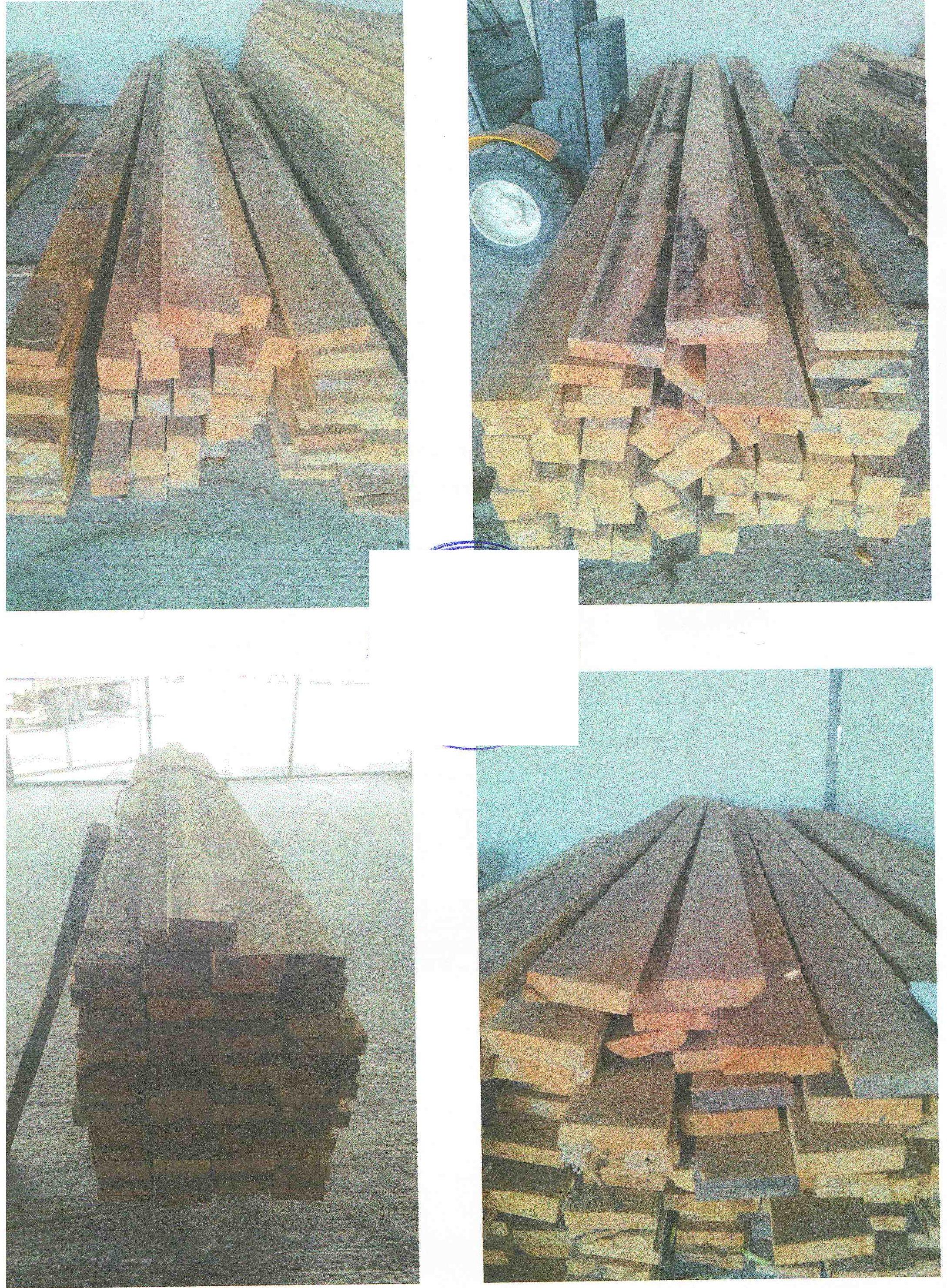 Лісоматеріали розпиляні, брус розмірами – 100*100*6000 мм – 33 шт.