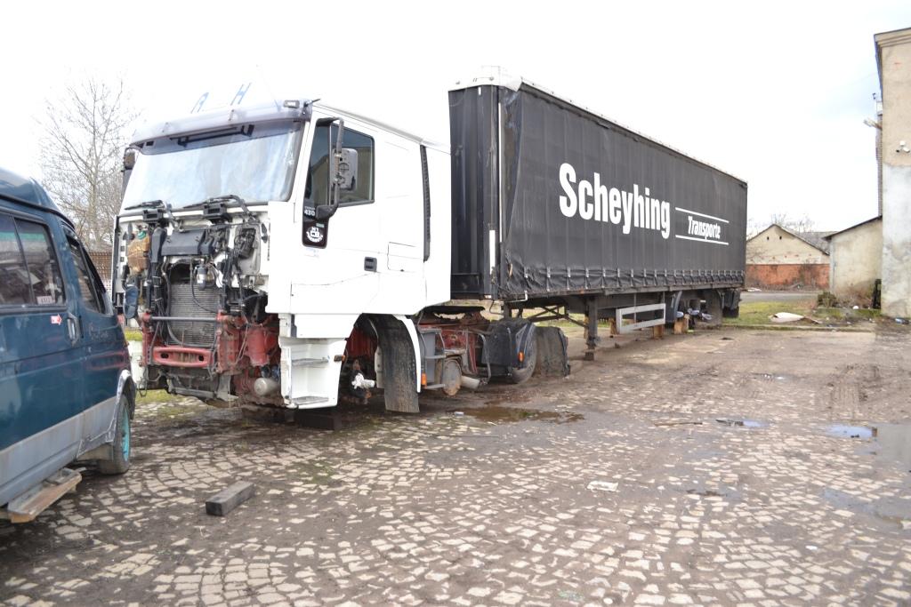 Транспортний засіб «Iveco Magirus 440E43» та напівпричіп «Krone SDP 27»
