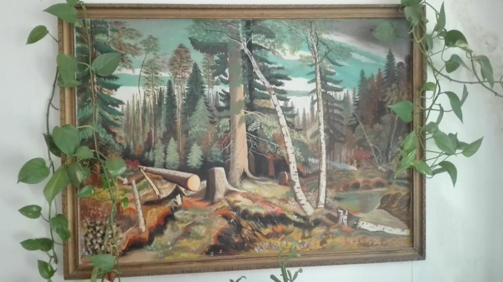 Картина з видом на ліс