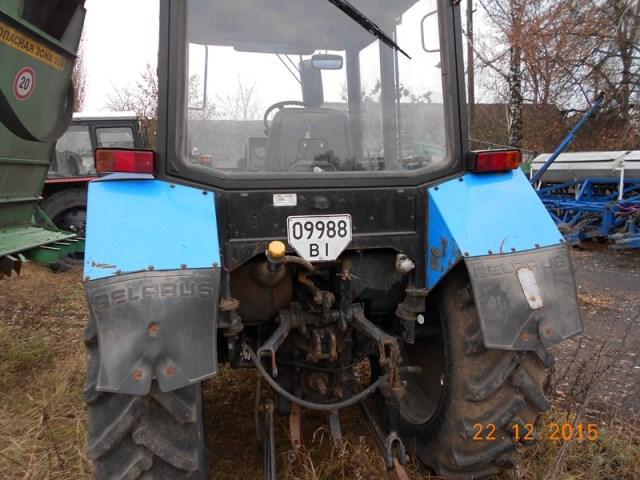 Трактор колісний Беларус-892, 2011 року випуску, заводський № 90814305, двигун № 584992, шасі № 662918, ДНЗ: 09988 ВІ