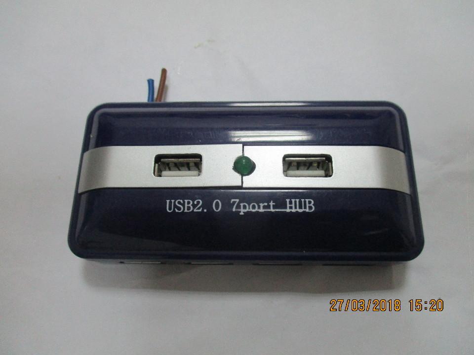 USB 2.07 port HUB, синього кольору