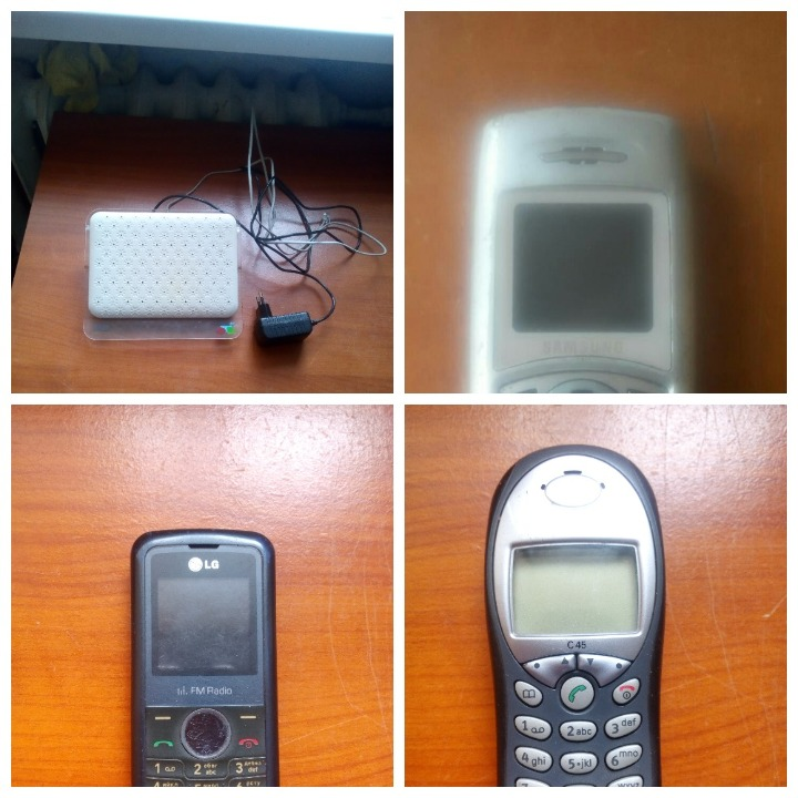 Маршрутизатор WiFi роутер фірми ZTEФ* Ukrtelecom_vkmmt2 Rated Voltaga, мобільний телефон Siemens С45, мобільний телефон Samsung SGH-c100, мобільний телефон LG