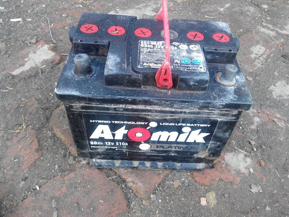 Акумулятор  ATOMIK platinum, з маркуванням 60 Ah 12v 510A