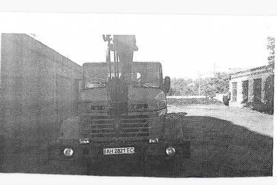 Вантажний автокран 10-20Т марки КС 3575А, на шасі КРАЗ 260, 1992 року випуску, ДНЗ: АН2821ЕС, зеленого кольору, VIN: Х1С260000N0743990; N0743990