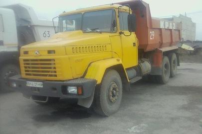 Вантажний автомобіль: КРАЗ 65055-02 (самоскид), 2011 р.в., ДНЗ: АН6729НХ, жовтого кольору, VIN: Y7A650550B0814224