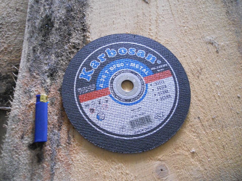 Круги відрізні з абразивних матеріалів для електроінструменту, армовані у кількості 25 шт