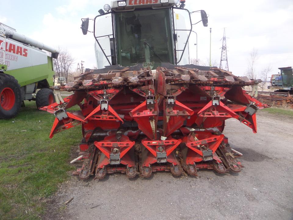Приставка кукурудзозбиральна OLIMAC DRAGO, рік випуску 2008, № кузова (ідентифікаційний номер) 29708, колір червоний