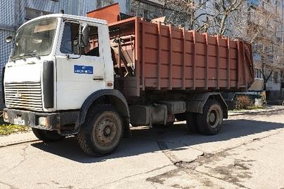 Сміттєвоз марки МАЗ, модель 533702, державний номер АР1924ВС, 2007 року випуску, колір білий,  шасі (кузов, рама) №Y3M53370270009524
