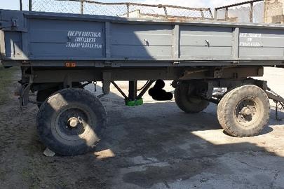 Причіп тракторний, марки ПСЕ, модель Ф-12,5Б, державний номер ЗЕ1137, 1996 року випуску, сірого кольору, шасі (кузов, рама) №075127