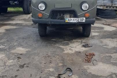 Вантажний автомобіль УАЗ, модель 3909, державний номер АР7752АР, 1998 року випуску, зеленого кольору, шасі (кузов, рама) №W0037350