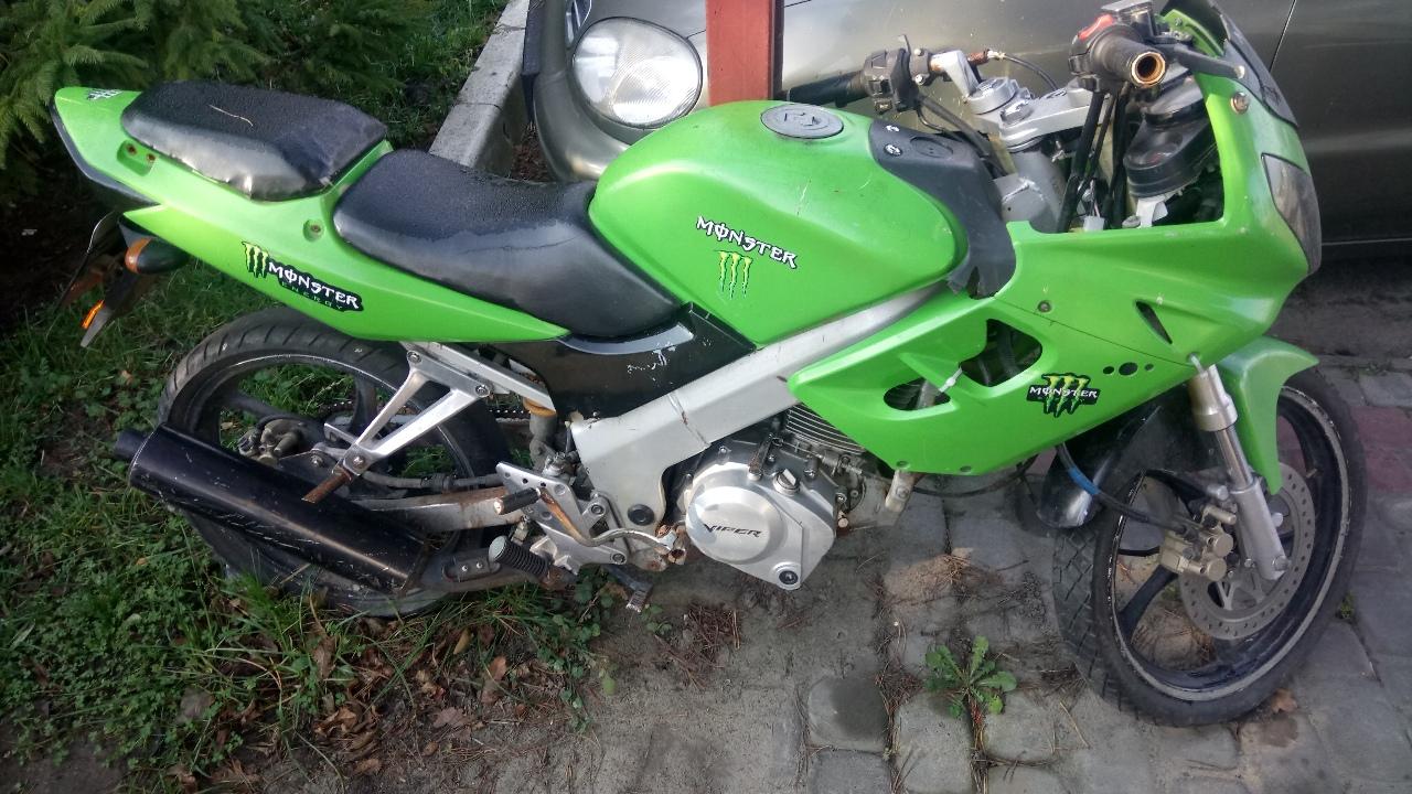 Мотоцикл без бокового причіпу - А VIPER MX 200 F, 2006 року випуску, реєстраційний номер АА1247АА, колір - зелений,  № кузова:LX8PCMP046F000008