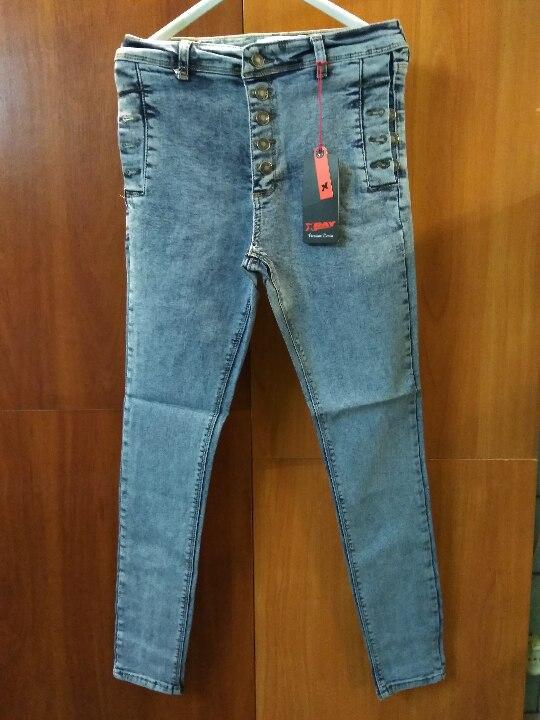 Штани джинсові, підліткові, різних кольорів та розмірів, іноземного виробництва, в кількості 50 шт