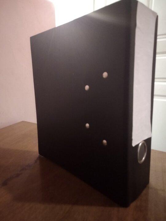 Папка сегрегатор А5, чорного кольору