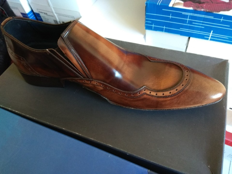 Туфлі чоловічі коричневого кольору, 41 розміру з натуральної шкіри, виробництво Іспанія