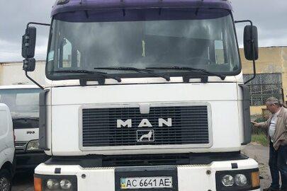 Вантажний автомобіль MAN 26.293 (Сміттєвоз), кузов WMAT080591M258775, ДНЗ АС6641АЕ, 1998 року випуску, об'єм дизельного двигуна 9973 см³, колір білий