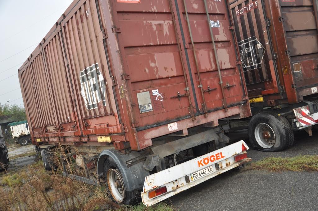 Колісний транспортний засіб, причіп (контейнеровоз) KOGEL AWE18, 1996 р.в., ДНЗ: ВВ6469ХХ, номер шасі (кузов, рама) WKOAWE018T1177983