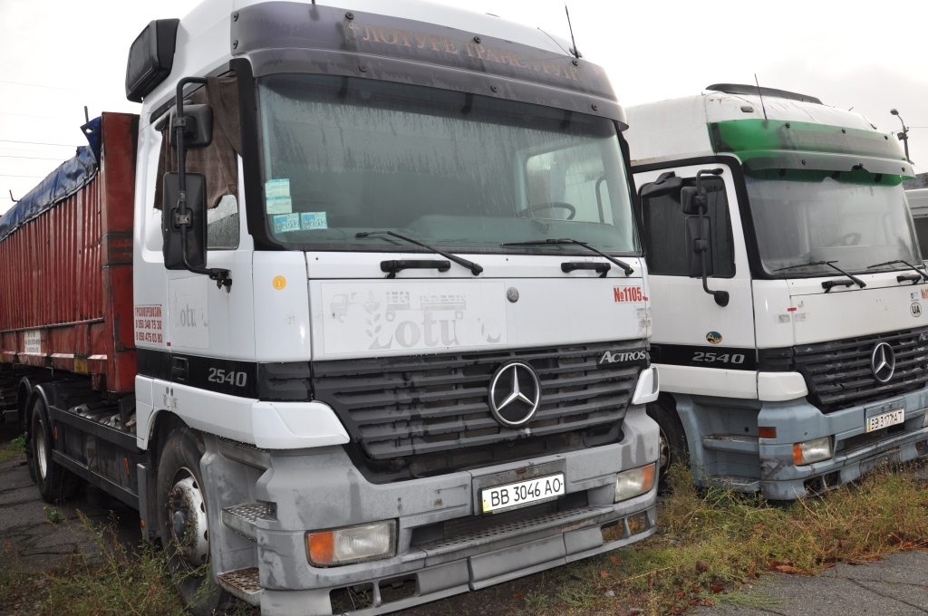 Колісний транспортний засіб, вантажний (контейнеровоз) MERCEDES-BENZ 2540L, 1998 р.в., ДНЗ: ВВ3046АО, номер шасі (кузов, рама) WDB9502031K374963