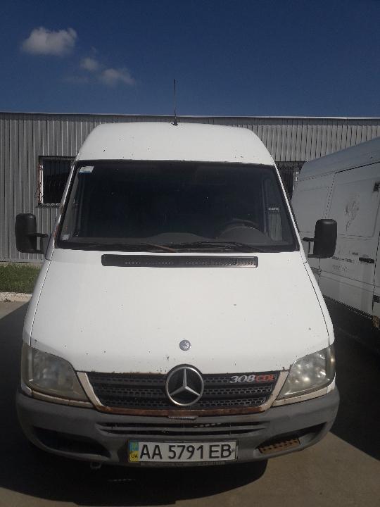Транспортний засіб  MERCEDES-BENZ SPRINTER, 2003 р.в., ДНЗ: АА5791EB, № кузову: WDB9036611R495195