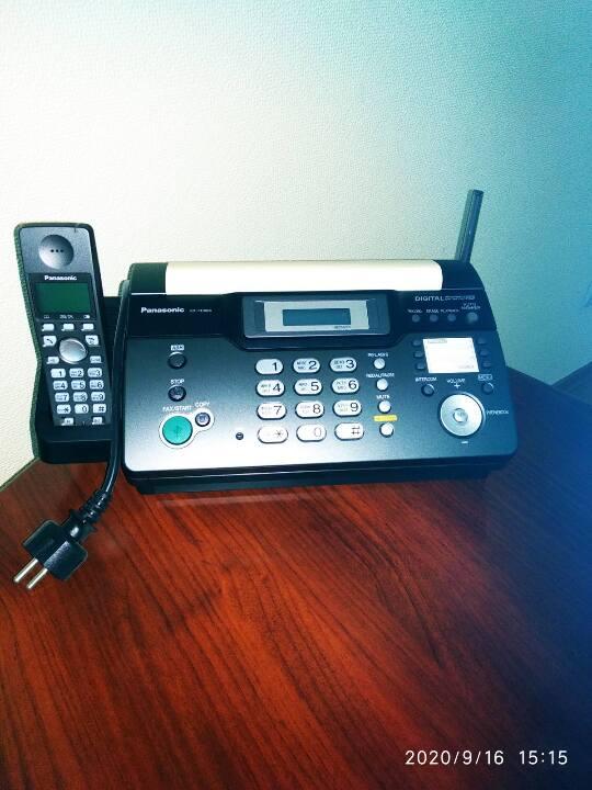 Телефон-факс Панасонік з трубкою, 1 од.; б/в.