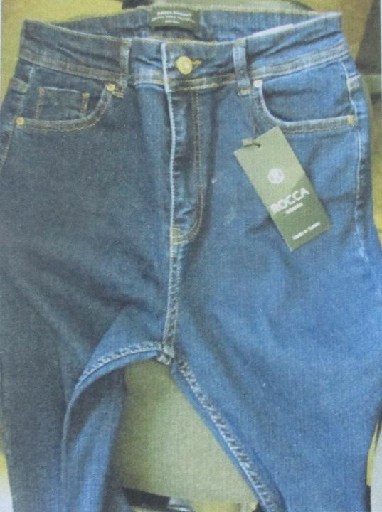 Штани джинсові різних торгових марок та кольорів в кількості 60 шт.