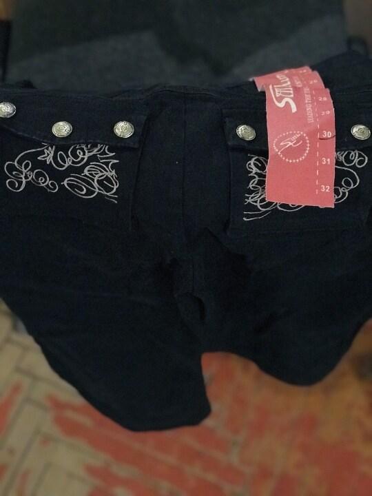 Жіночі брюки, з орнаментом на задніх карманах, 1 шт., розмір: 30, стан: новий