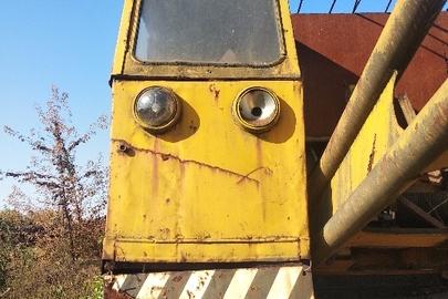 Кран залізничний КЖДЕ-16, заводський номер 148,1986 р.в., жовтого кольору