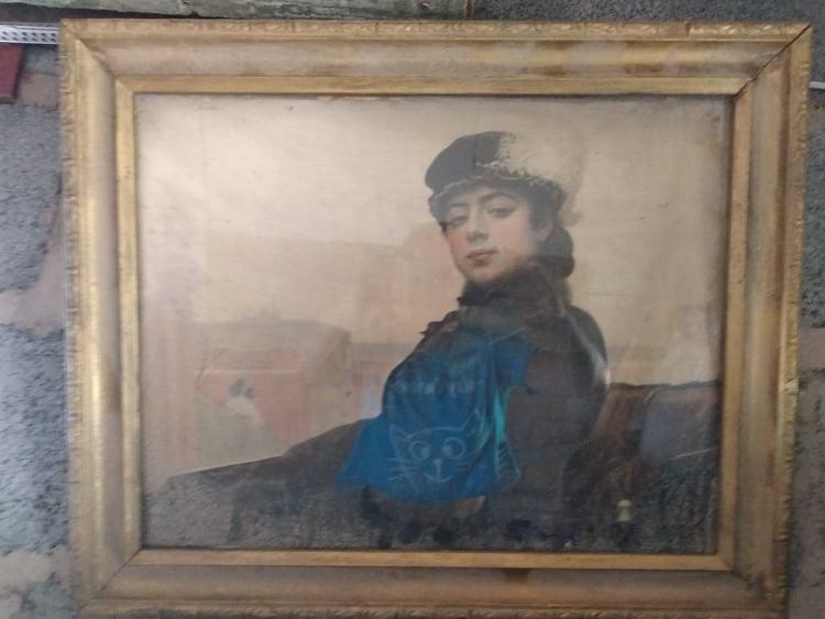Настінна картина із зображенням жінки