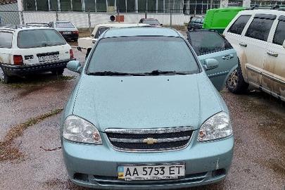 Транспортний засіб CHEVROLET LACETTI, 2008 року випуску, реєстраційний номер АА5753ЕТ, кузов № KL1NF19BE8K821685, VIN: Y6DNF19BE8K821685, зеленого кольору