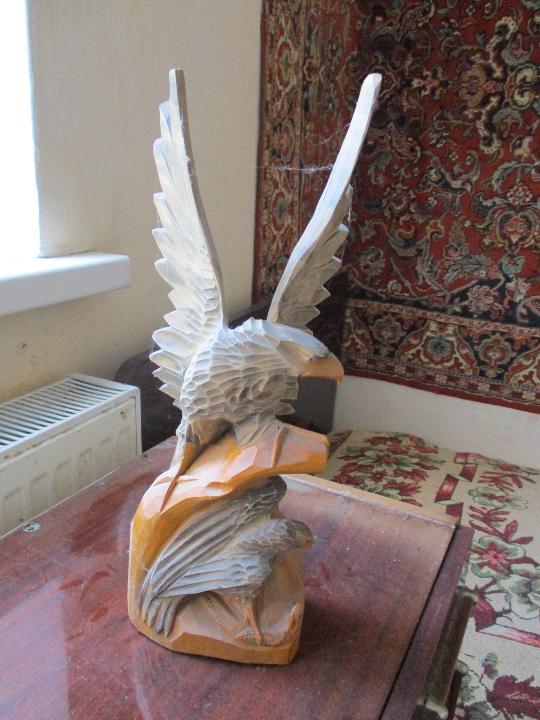 Деревяна статуетка у формі орла, різьблена, Б/К