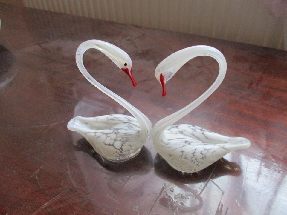 Статуетки скляні у формі лебедя, 2 шт., Б/К