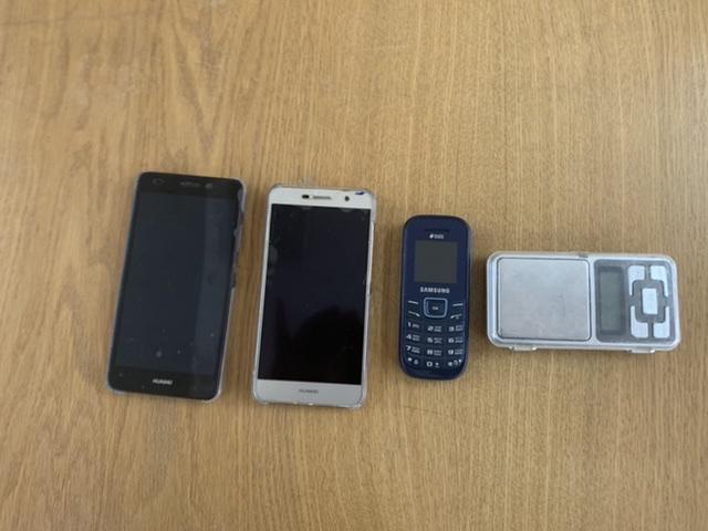 Мобільний телефон марки HUAWEI TIT-U02 б/в, мобільний телефон марки HUAWEI NMO-L31 б/в, мобільний телефон Samsung DUOS б/в, електронні ваги б/в