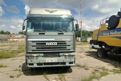 Колісний транспортний засіб марки IVECO 10350 (сідловий тягач-Е), 2000 р.в., реєстраційний номер АТ1367АО, колір сірий, кузов № WJMM1VSK00C082970