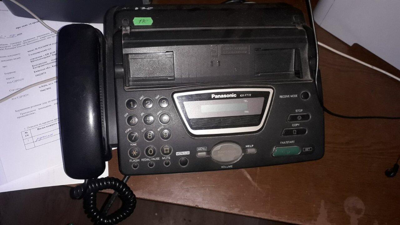 """Факсимільний апарат,""""PANASONIC"""" модель КХ-FT72RU чорного кольору, б/в"""