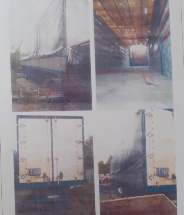 Напівпричіп KRONE AZK 18, 1989 року випуску, ДНЗ: СВ7101ХХ, номер шасі (кузова, рами) : KW 1020294