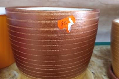 Вазон для квітів керамічний, коричневого кольору на 3 літри, новий