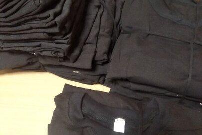 Футболки чорного кольору, бавовна 100%, розмір 52-54, у кількості 52 одиниці
