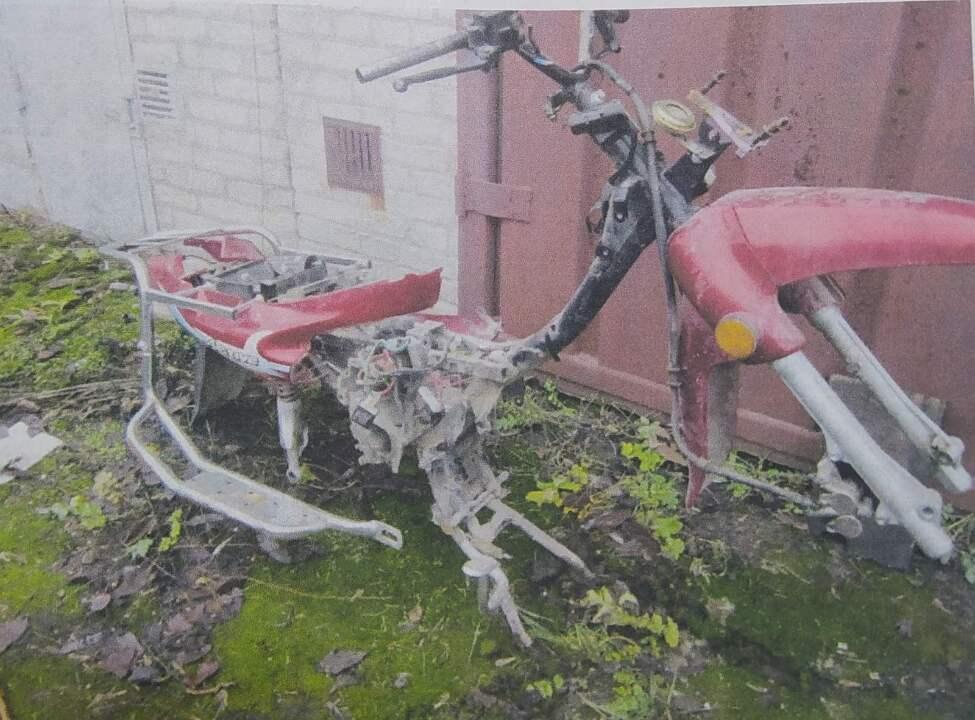 Рама до скутера Viper ZS50, VIN №LY4YAGAC98K004472, б/в