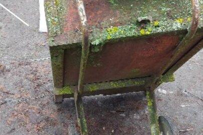 Тачка металева саморобна, бувша у використанні, 1 шт.