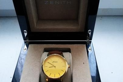 """Годинник наручний """"Jiuma"""" б/в, 1 од., шкатулка """"ZENITH"""" б/в, 1 од."""