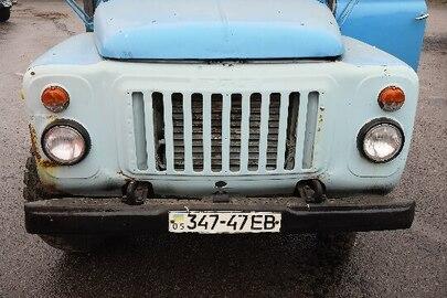 Вантажний автомобіль ГАЗ 5201, 1989 р.в., синього кольору, ДНЗ: 34747ЕВ, номер VIN: ХТН520100К1130736