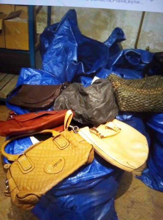 Рюкзаки, сумки, гаманці, загальною кількістю: 653 шт.