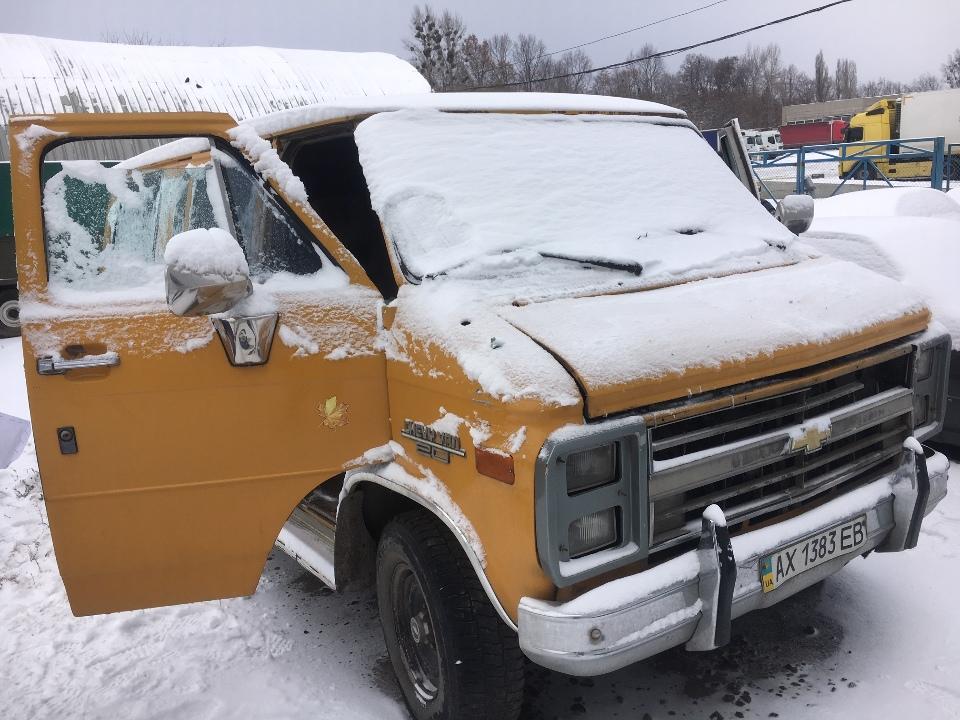 Колісний транспортний засіб (фургон) CHEVROLET Chevy Van G20 1989 р.в., АХ1383ЕВ, кузов №1GBEG25K9J7186951