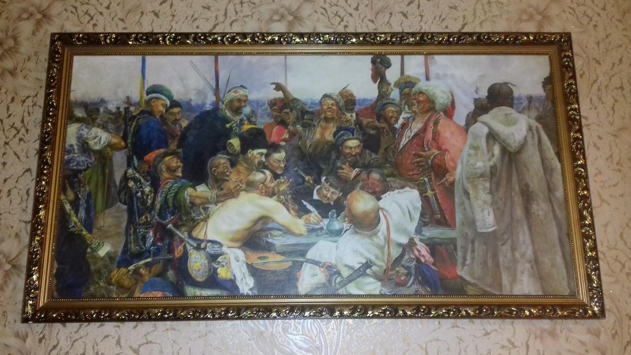 Картина настінна із зображенням козаків, без видимих пошкоджень
