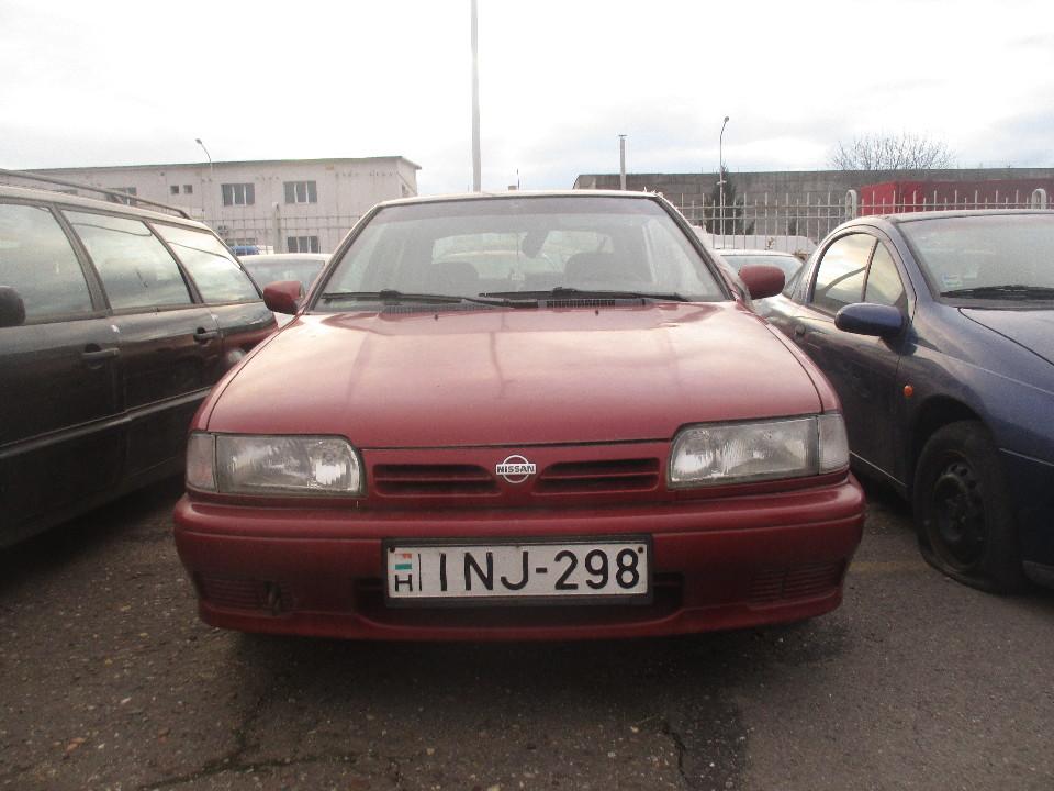 Т/З марки NISSAN, модель PRIMERA, 1996 року випуску, реєстраційний номерний знак Угорщини INJ 298, кузов № SJNCAP0U0598180, червоного кольору