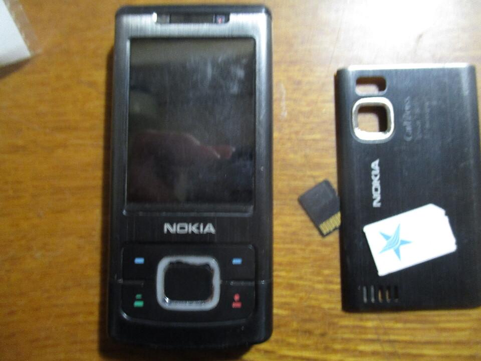 Мобільний телефон марки Nokia, модель 6500s-I, чорного кольору та сім карта, б/в