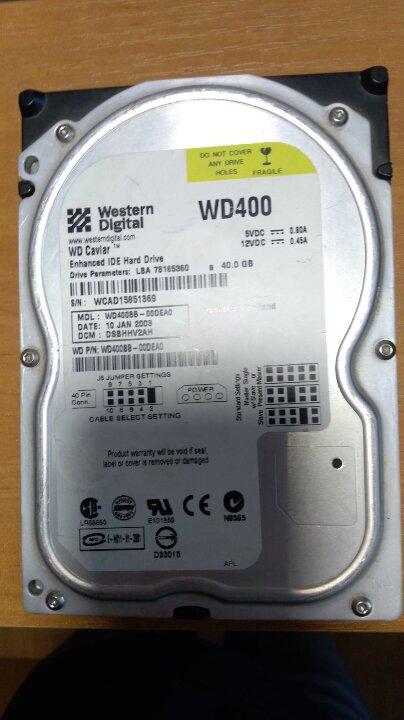 Жорсткий диск до ПК «WD 400 s/n WCAD 15851369»