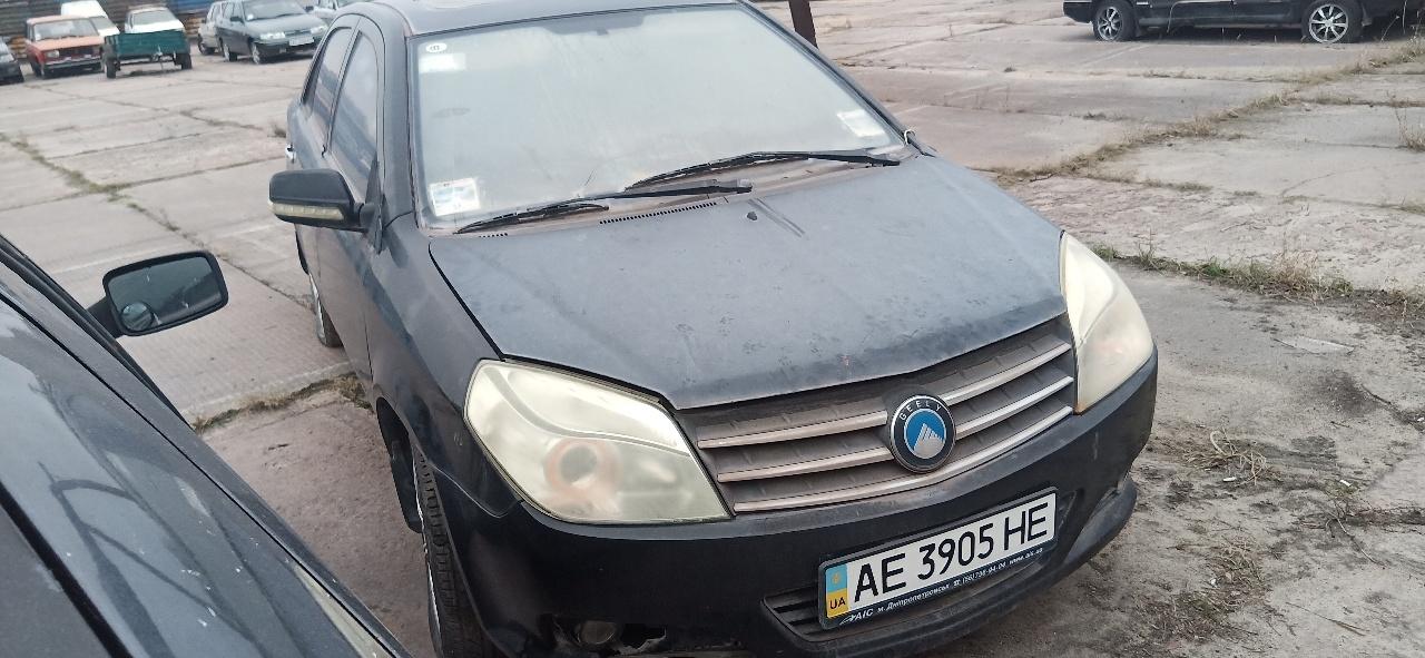 Легковий автомобіль GEELY МК, державний номер АЕ3905НЕ, 2012 року випуску, чорного кольору,  кузов №LB37624S3DL002548