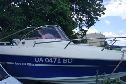 """Прогулянкове судно типу """"AZURA 560 Cabin"""", реєстраційний (бортовий) номер: UA0471BD, 2010 року випуску, номер кузова UA-YACHTТII560CMR11030"""