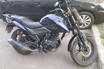 Мотоцикл LIFAN, модель LF175-2E, синього кольору, 2020 року виробництва, VIN LF3PCL2E6LA000617, номерний знак СВ2998АВ